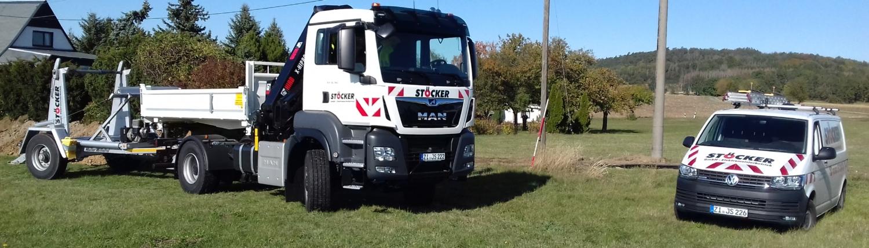 LKW MAN Truck mit Kipper und Ladegerät